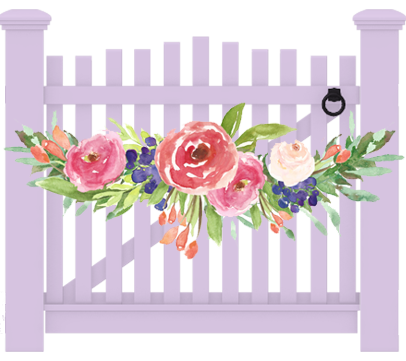 Flowers Clipart Background png download - 600*600 - Free Transparent Fence  png Download. - CleanPNG / KissPNG