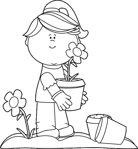 Kids clipart gardening. Garden clip art images