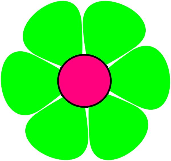 green clipart flower