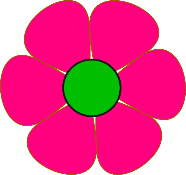 Pink and green flower. Flowers clipart box