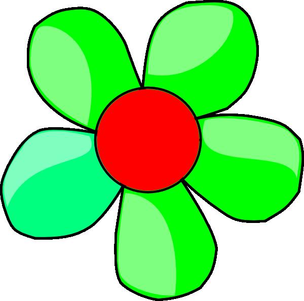 Flower clip art at. Clipart gun green