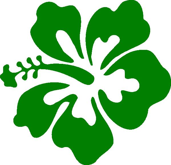 Hawaiian clipart leaf. Hibiscus green clip art