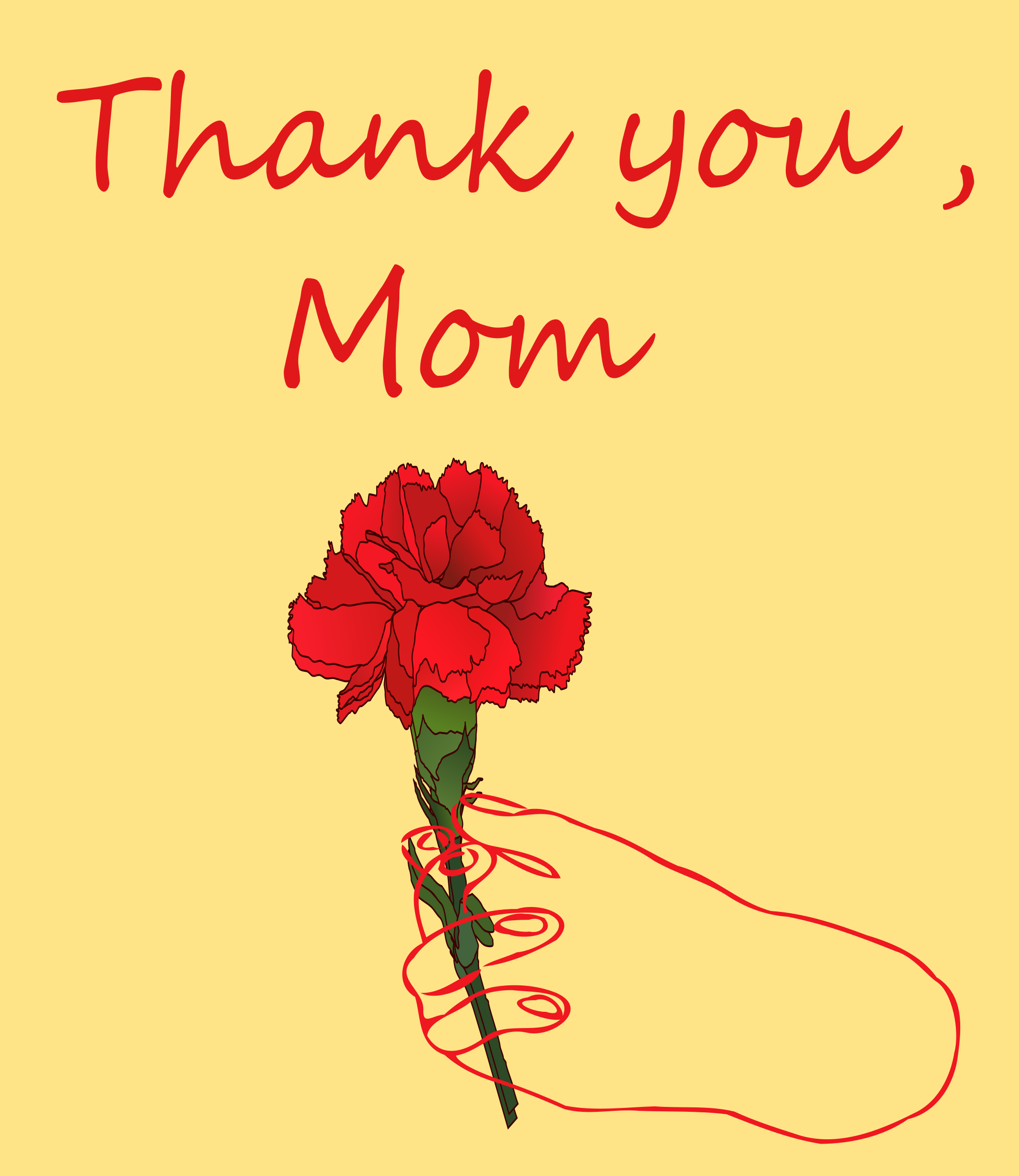 Mothers day big image. Thanks clipart script