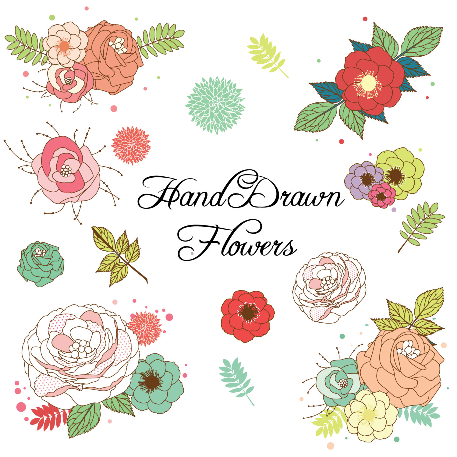Flower clipart hipster. Free country flowers cliparts