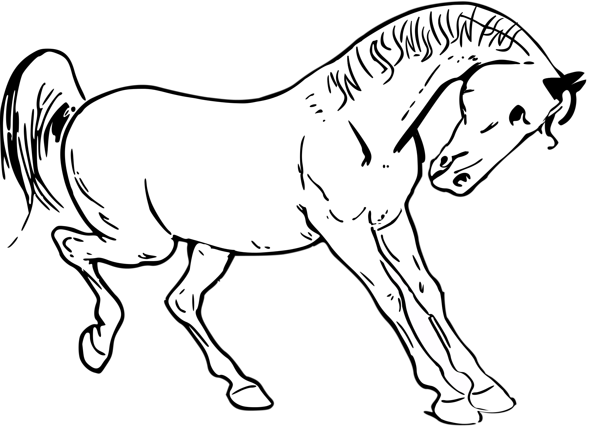 File svg wikimedia commons. Kids clipart horse