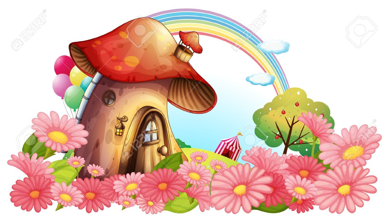 Flower clipart house. Clip art arts for