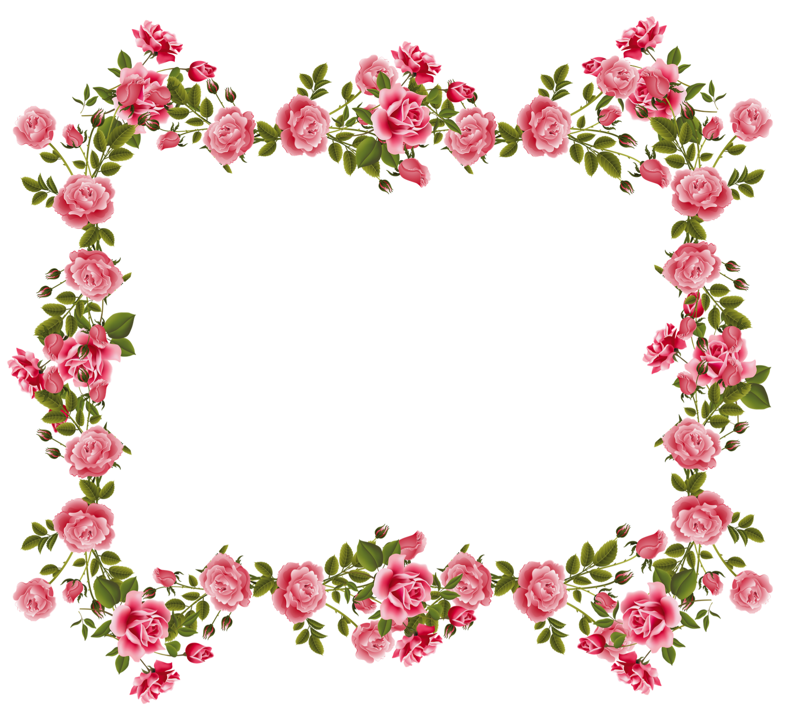 Well designed flower beds. Plants clipart frame