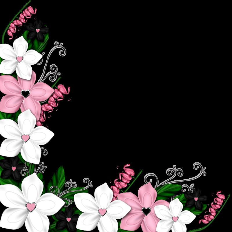 Flourish clipart page. Coins bordures bordes en