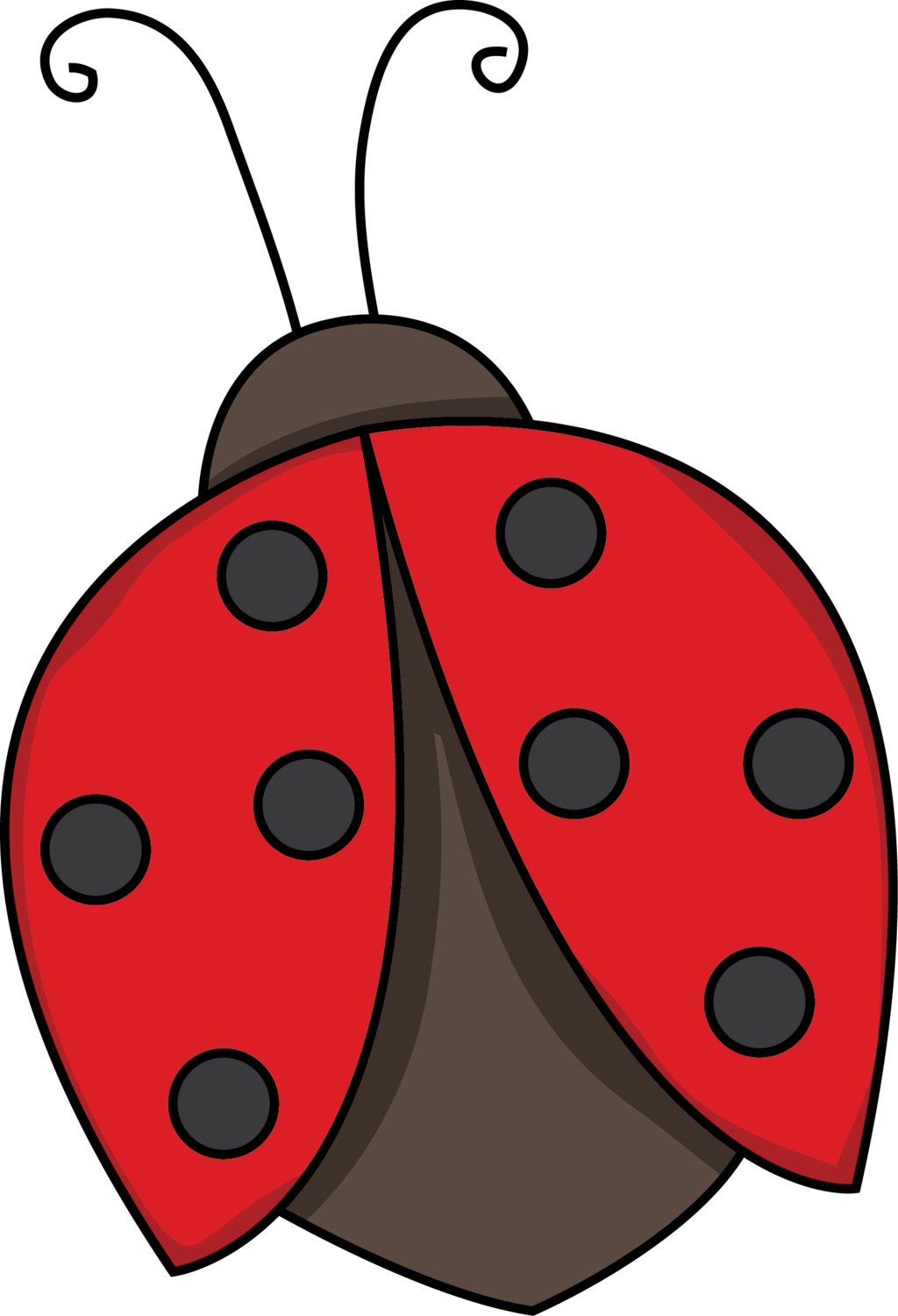 Flying black and white. Ladybug clipart l be for