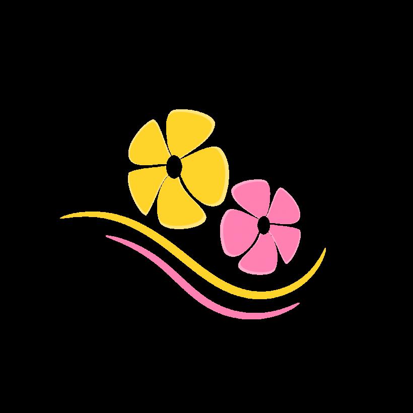 Frangipani idea free elements. Flower clipart logo
