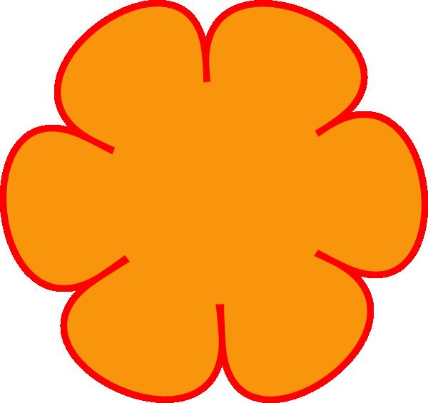 Clipart png orange. Red flower clip art