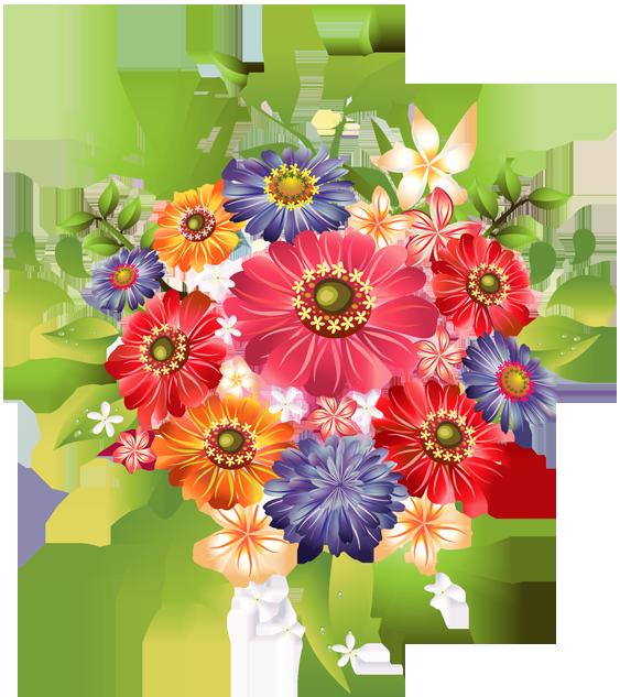 Flower bouquet clip art. Flowers png images