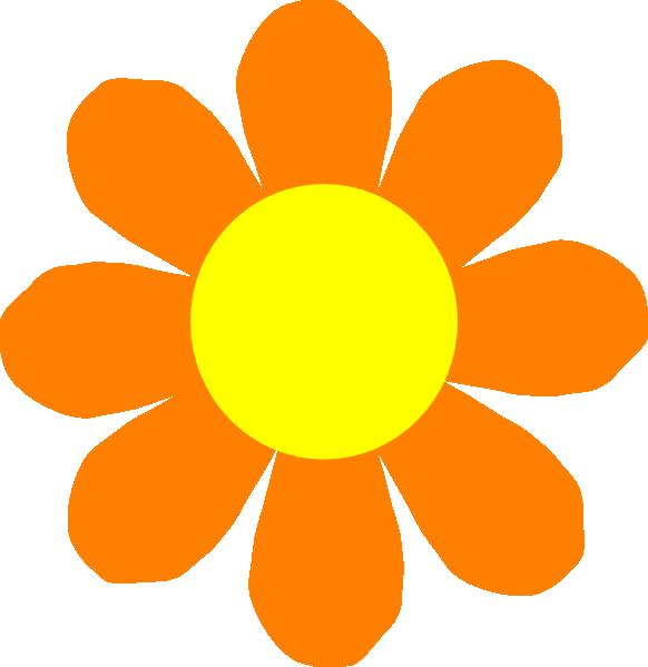 Orange flower clip art. Flowers clipart nelum