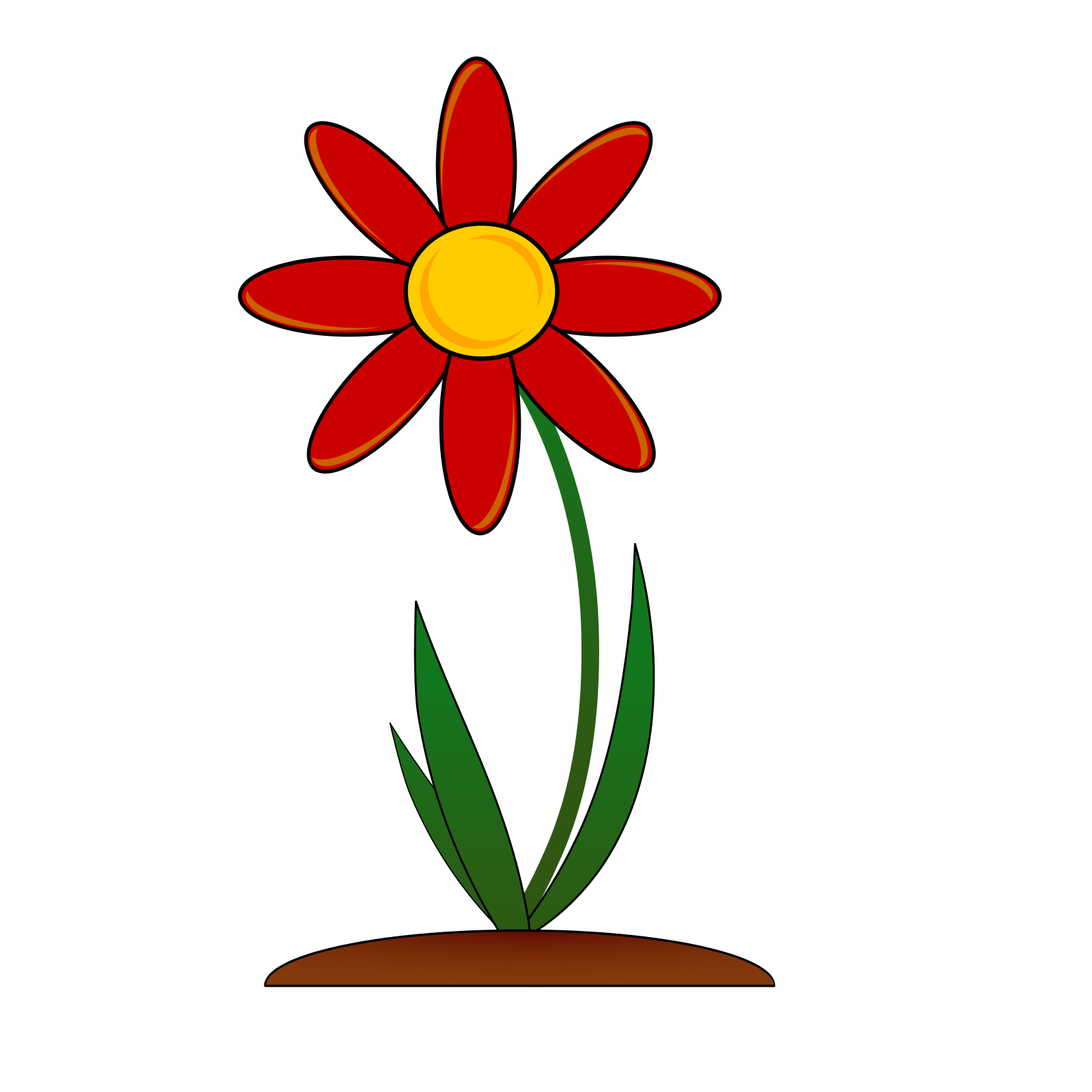 Flower clip art structure. Flowers clipart name