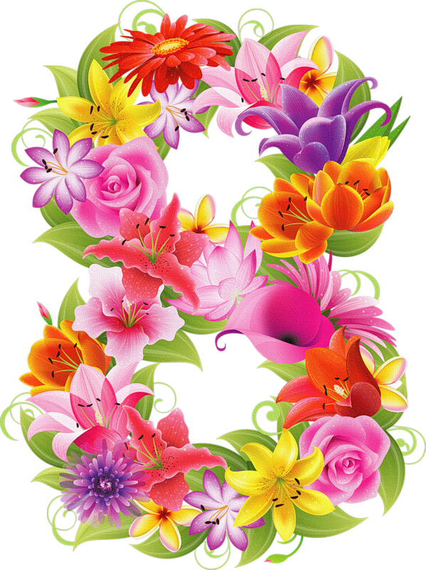 Clipart flower number.  png pinterest milestone