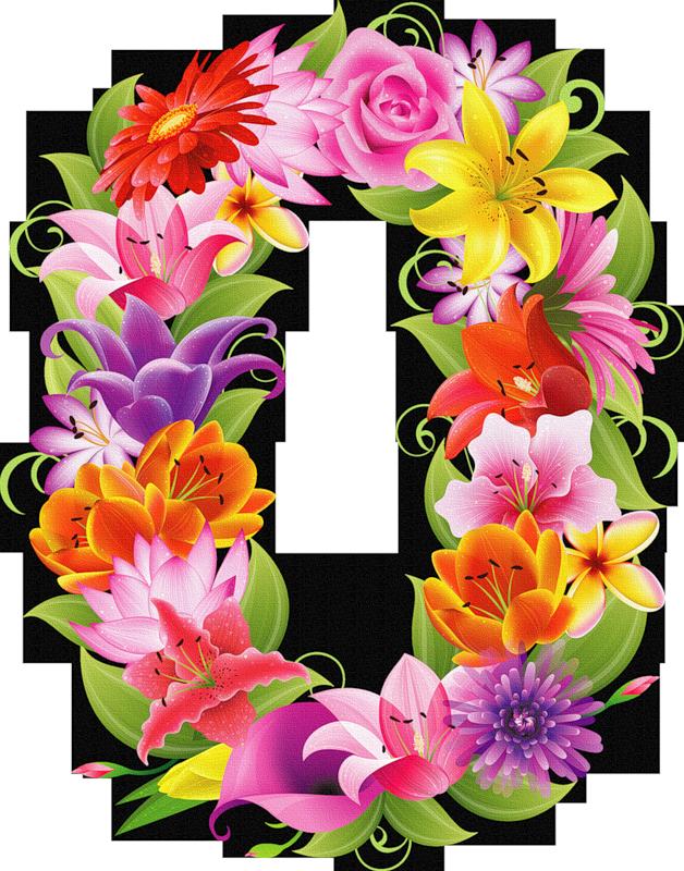 Number 1 clipart floral.  png pinterest milestone