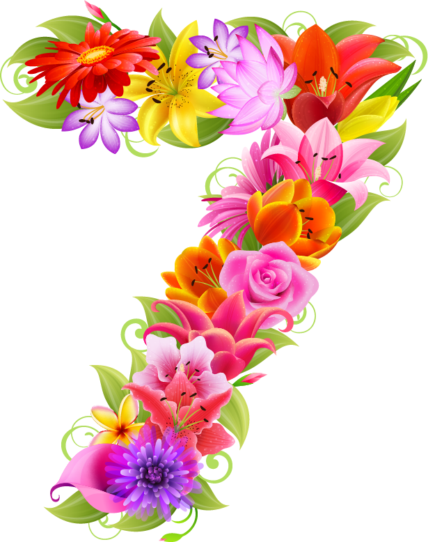 Flowers clipart number.  d a e