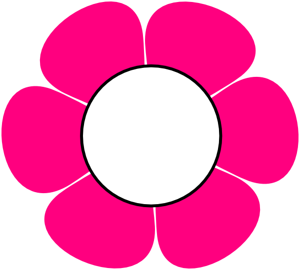 pink flower clip. Flowers clipart number