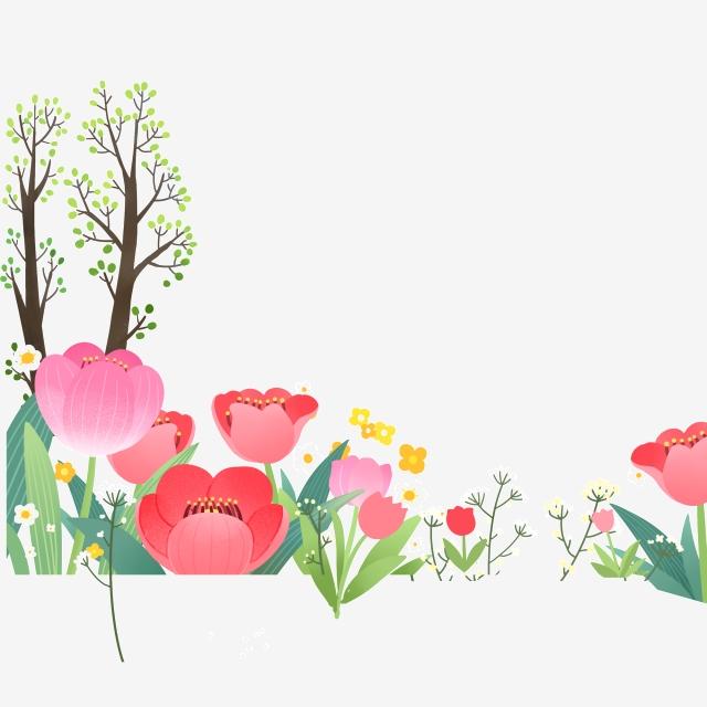 A beautiful flower trunk. Clipart flowers ocean