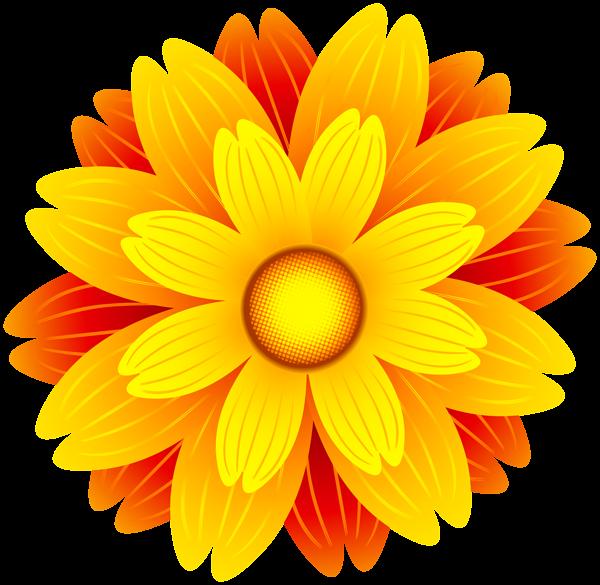 Orange transparent clip art. Flower clipart png