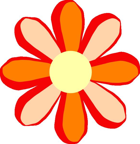 Clipart flower orange. Clip art at clker