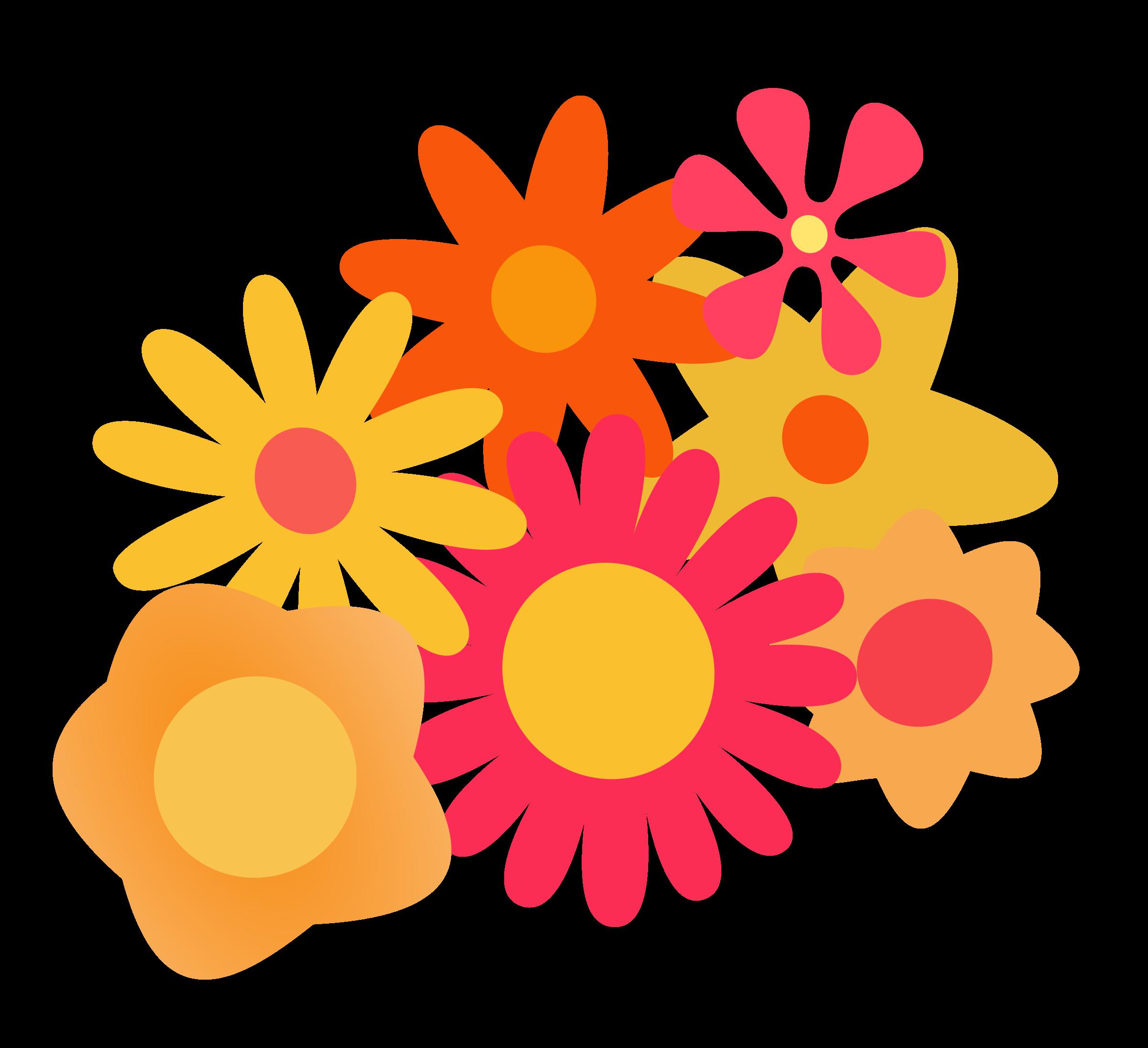Cluster big image png. Clipart flower orange