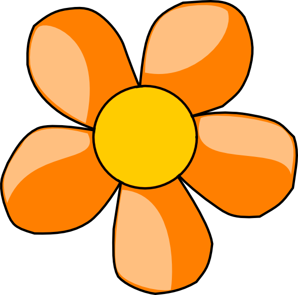 Clip art at clker. Clipart flower orange