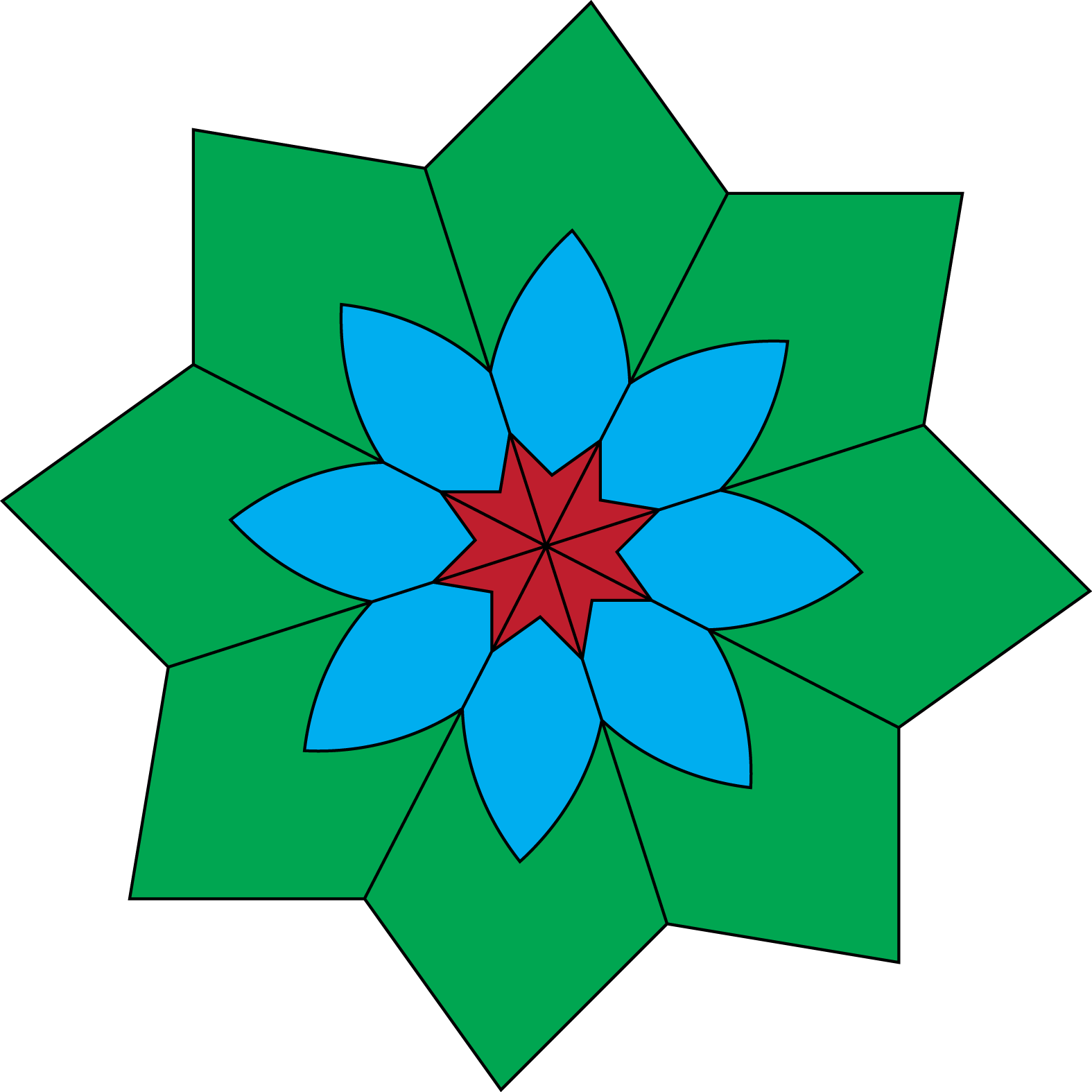 Flowers clipart origami. Kaleidoscope flower free images