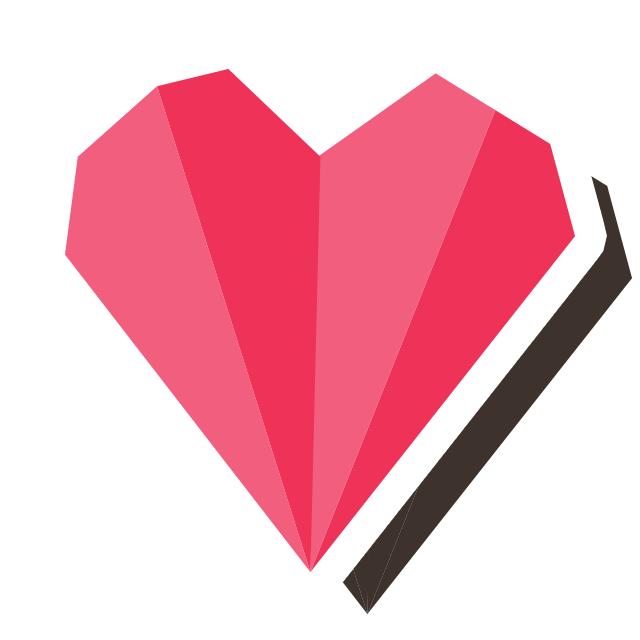 The skout blog heart. Flowers clipart origami