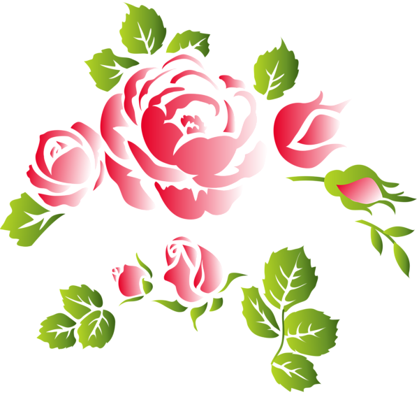 Roses floral ornament png. Clipart rose lace
