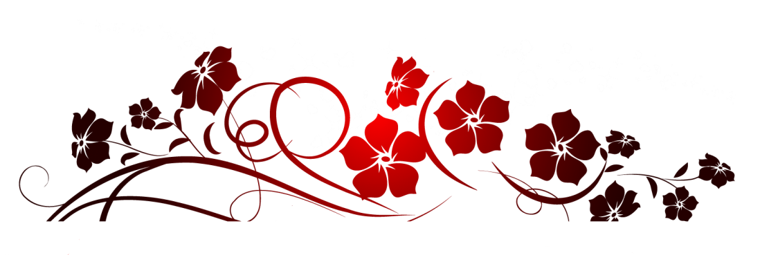Red flowers decoration png. Number clipart decorative