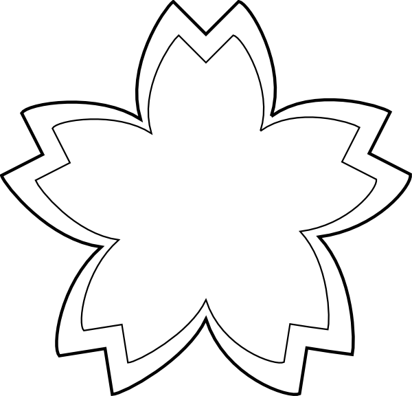 Sandcastle outline flower clip. Clipart roses simple