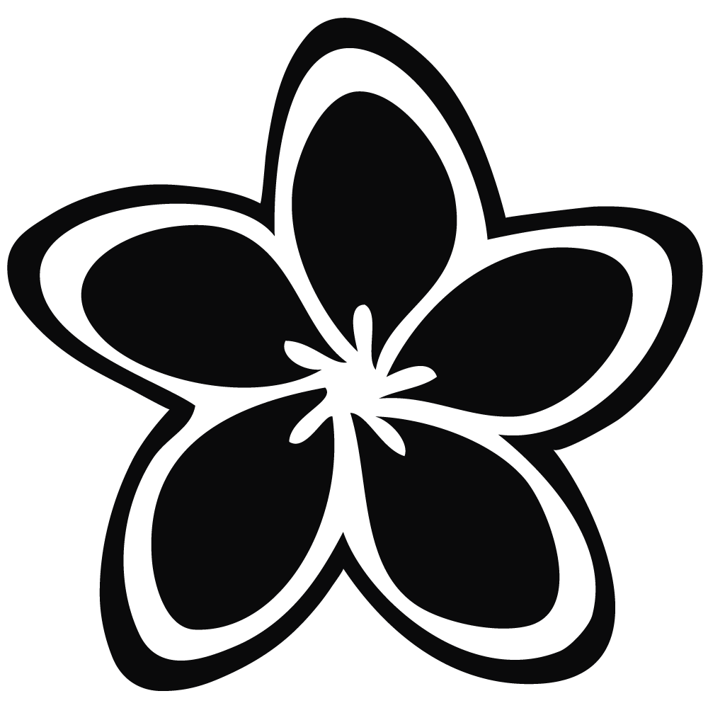 collection of hawaiian. Outline clipart flower
