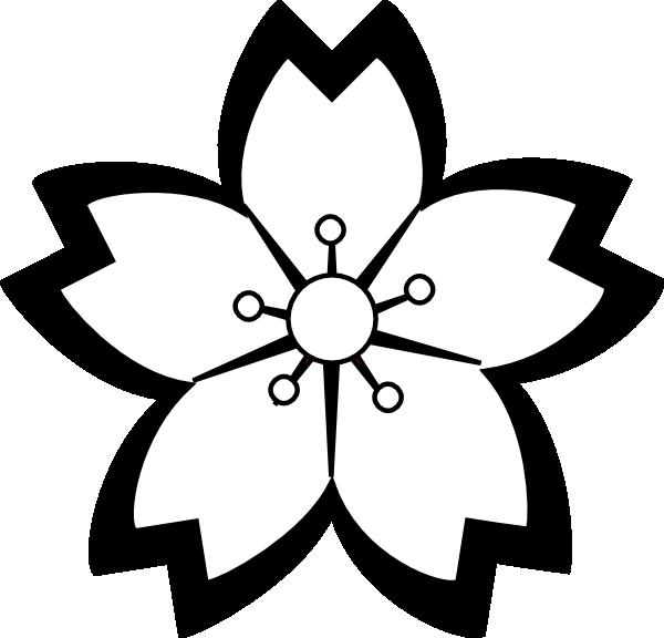 Sakura flower templates pinterest. Flowers clipart origami