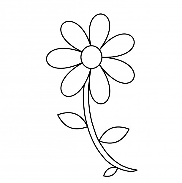 Flower clipart outline. Free cliparts download clip