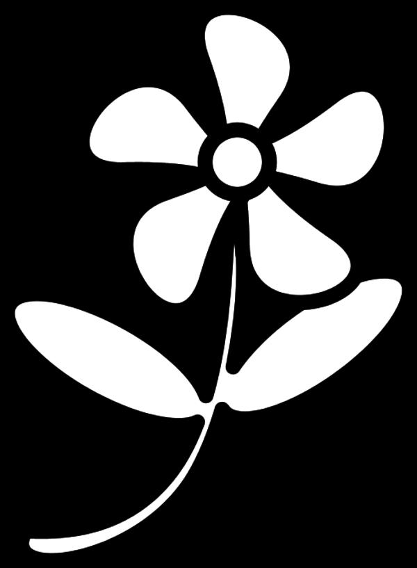 . Clipart flower outline