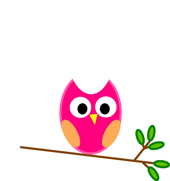 Orange and pink clip. Foot clipart owl