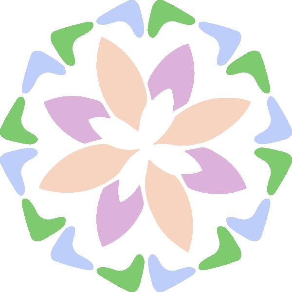 Abstract shape clip art. Clipart flower pastel