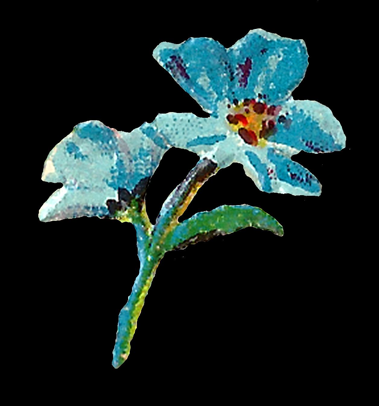 Floral clipart pastel. Antique images digital flowers