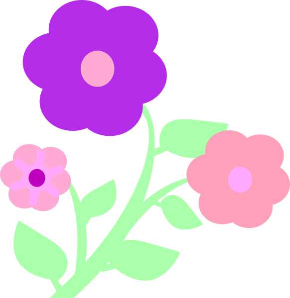 Clipart flower pastel. Flowers clip art at