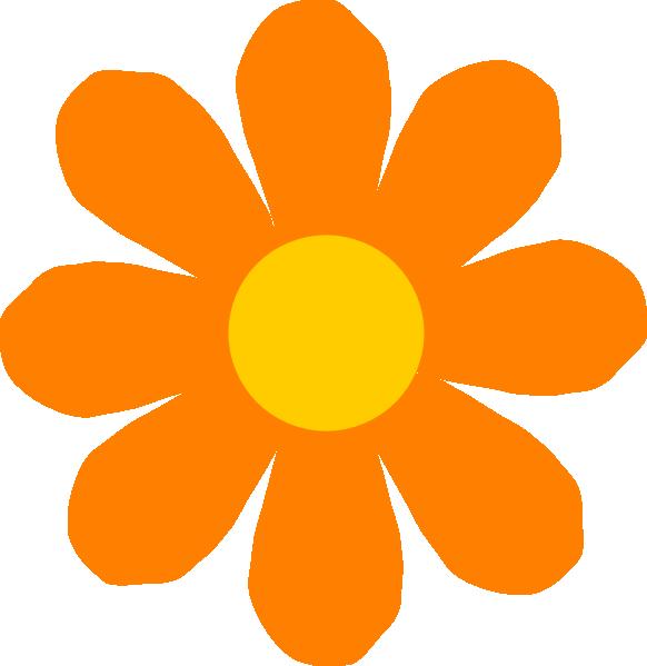 Flowers clipart name. Orange flower clip art