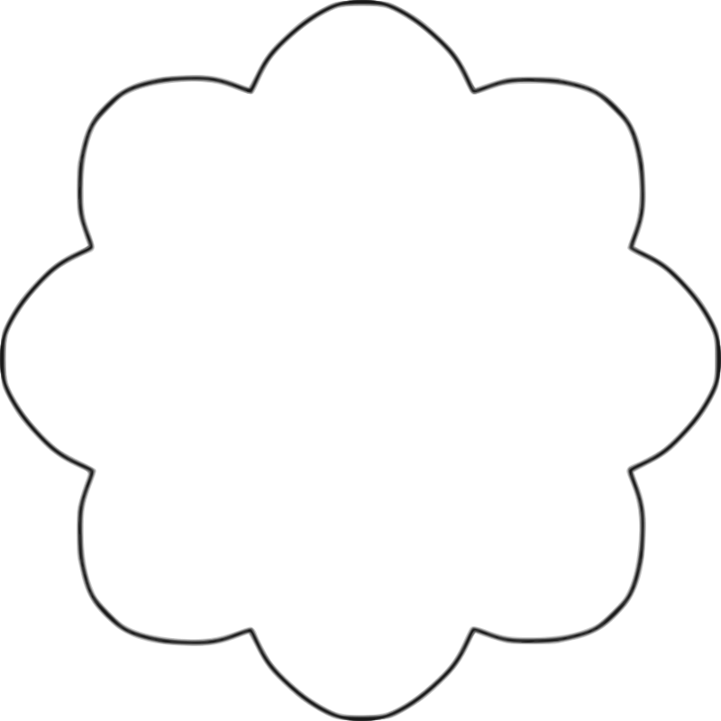 Clipart wedding shape. Flower template clipartfest crafts