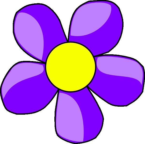Dot clipart flower. Purple clip art at