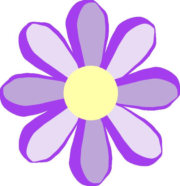 Flower clip art at. Purple clipart cute