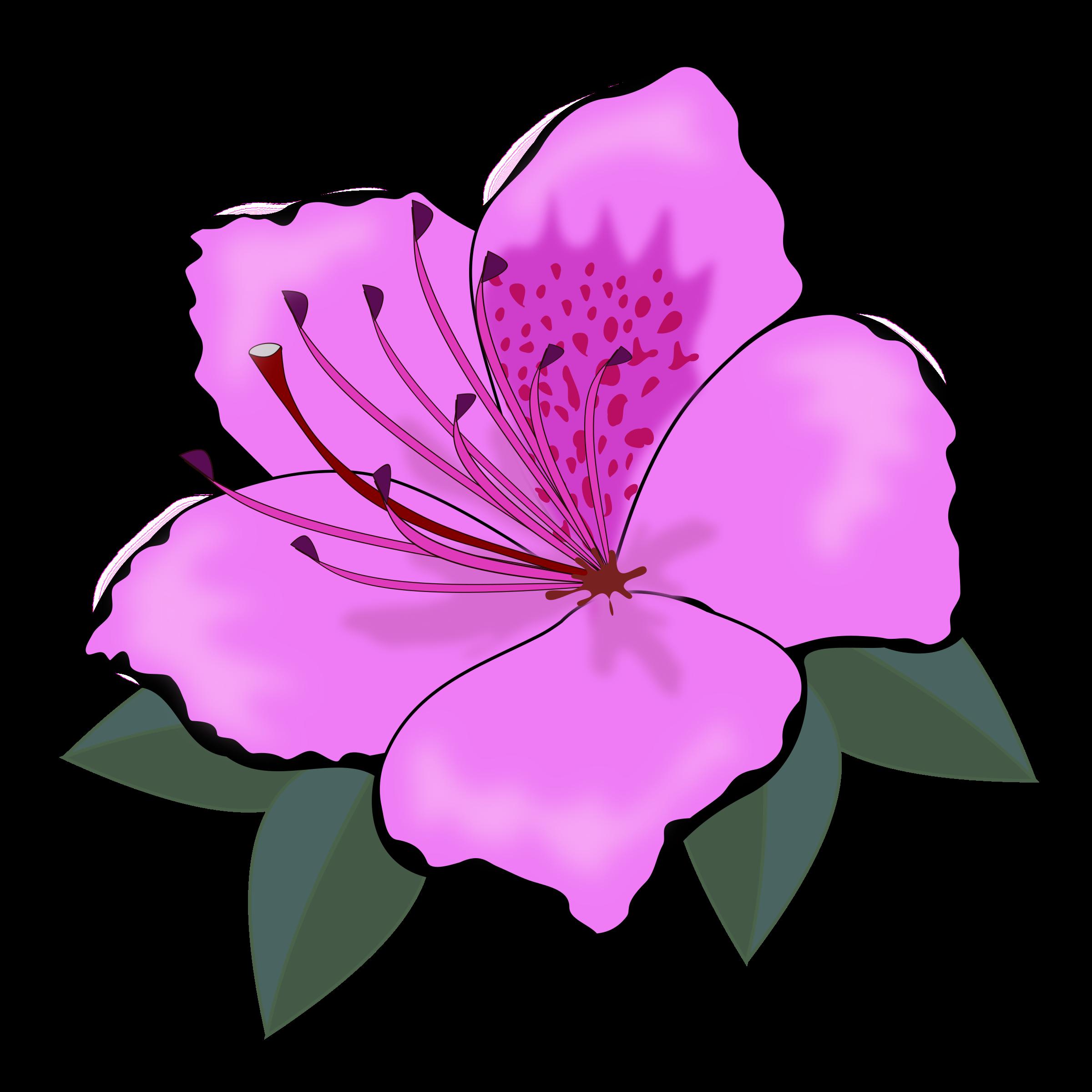 Clipart flower purple.