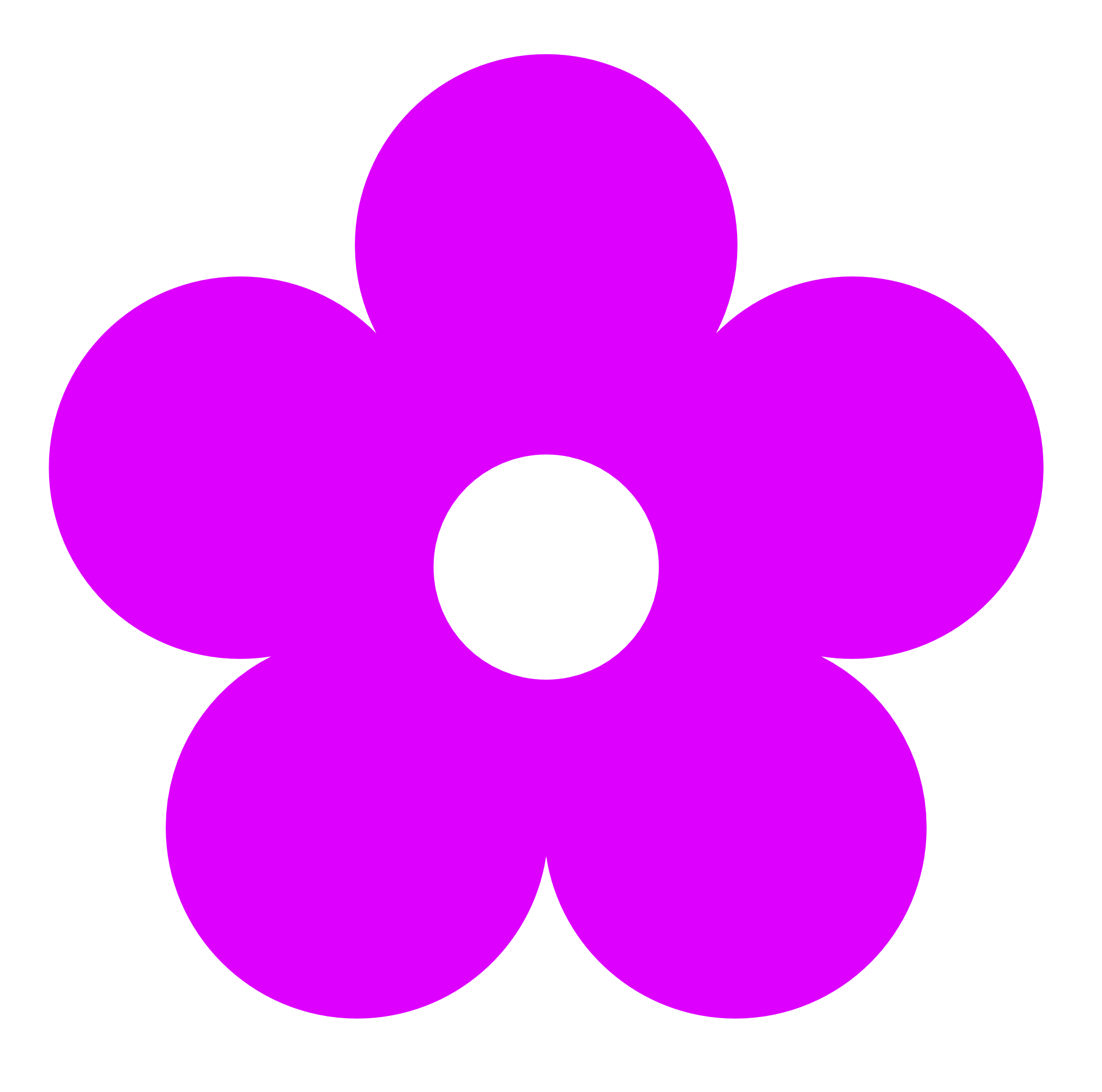 Flower clip art panda. Square clipart neon purple