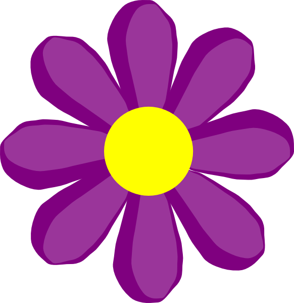 Purple clip art at. R clipart flower