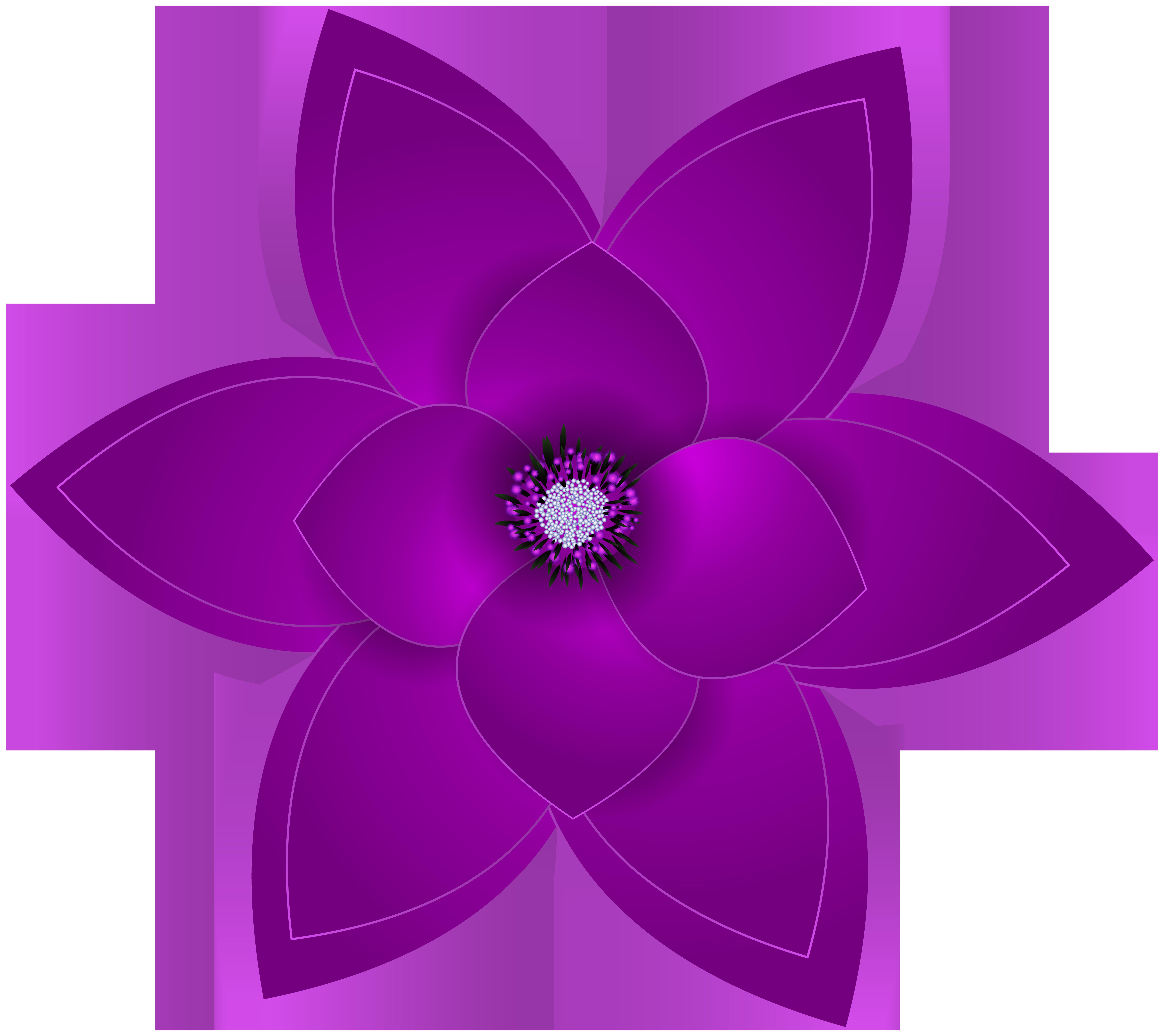 Deco flower transparent png. Purple clipart summer