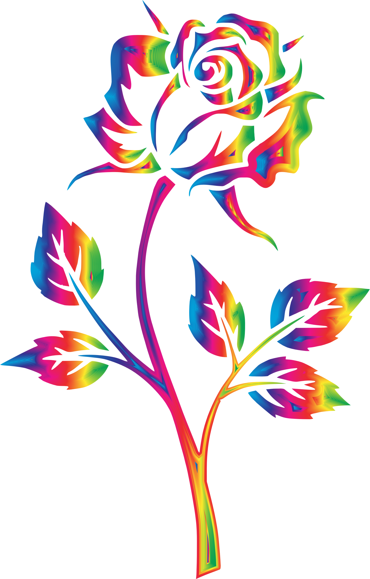 Rainbow no big image. Clipart rose clear background