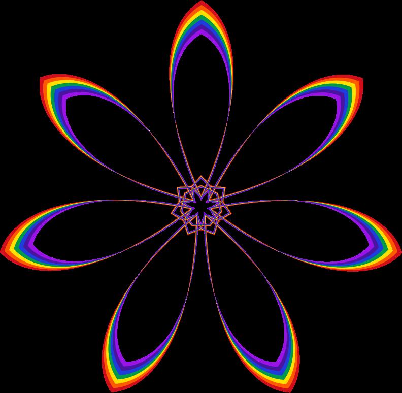 Flower clipart rainbow. Medium image png